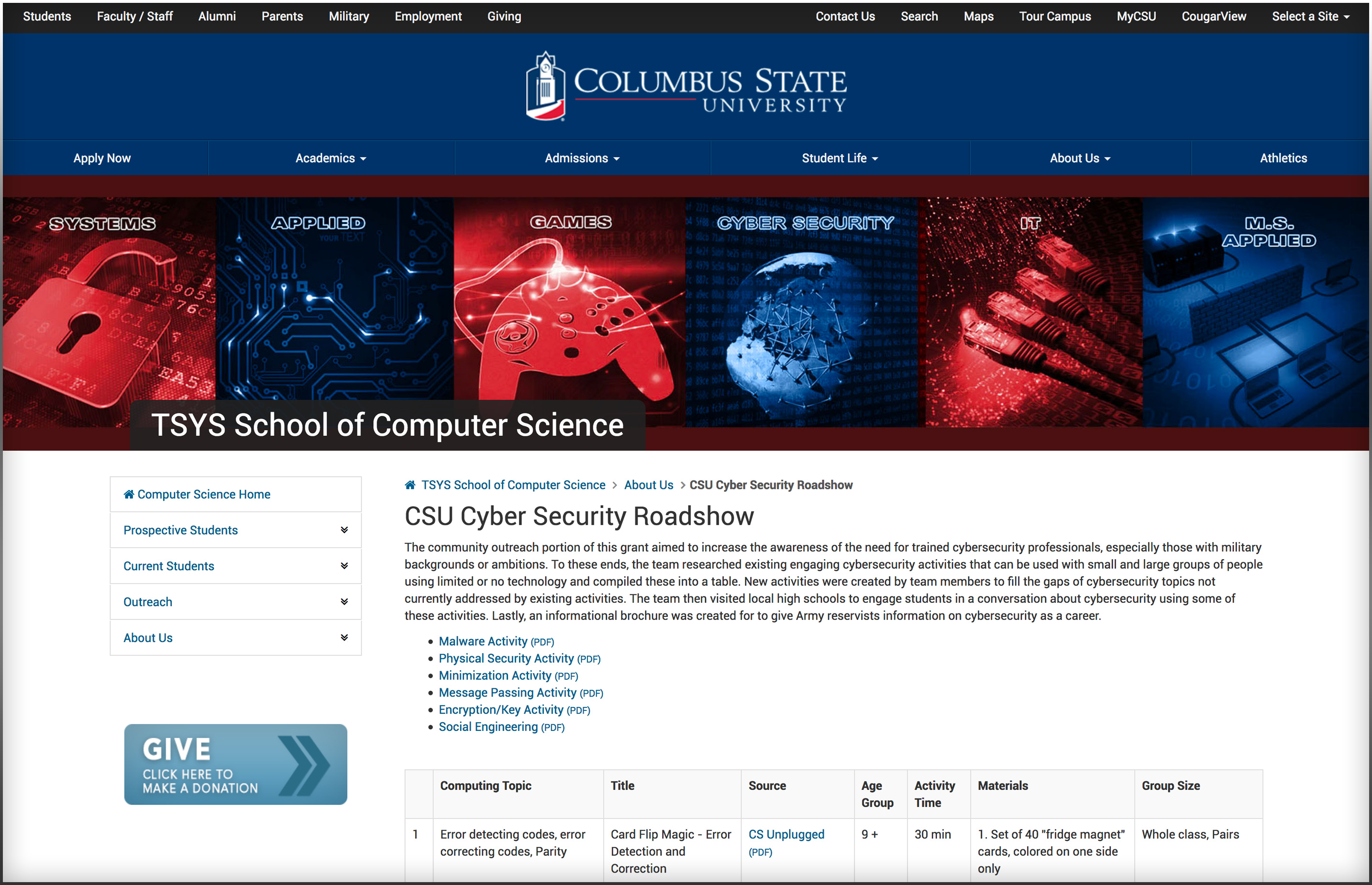 https://cs.columbusstate.edu/about_us/cybersecurity_roadshow.php