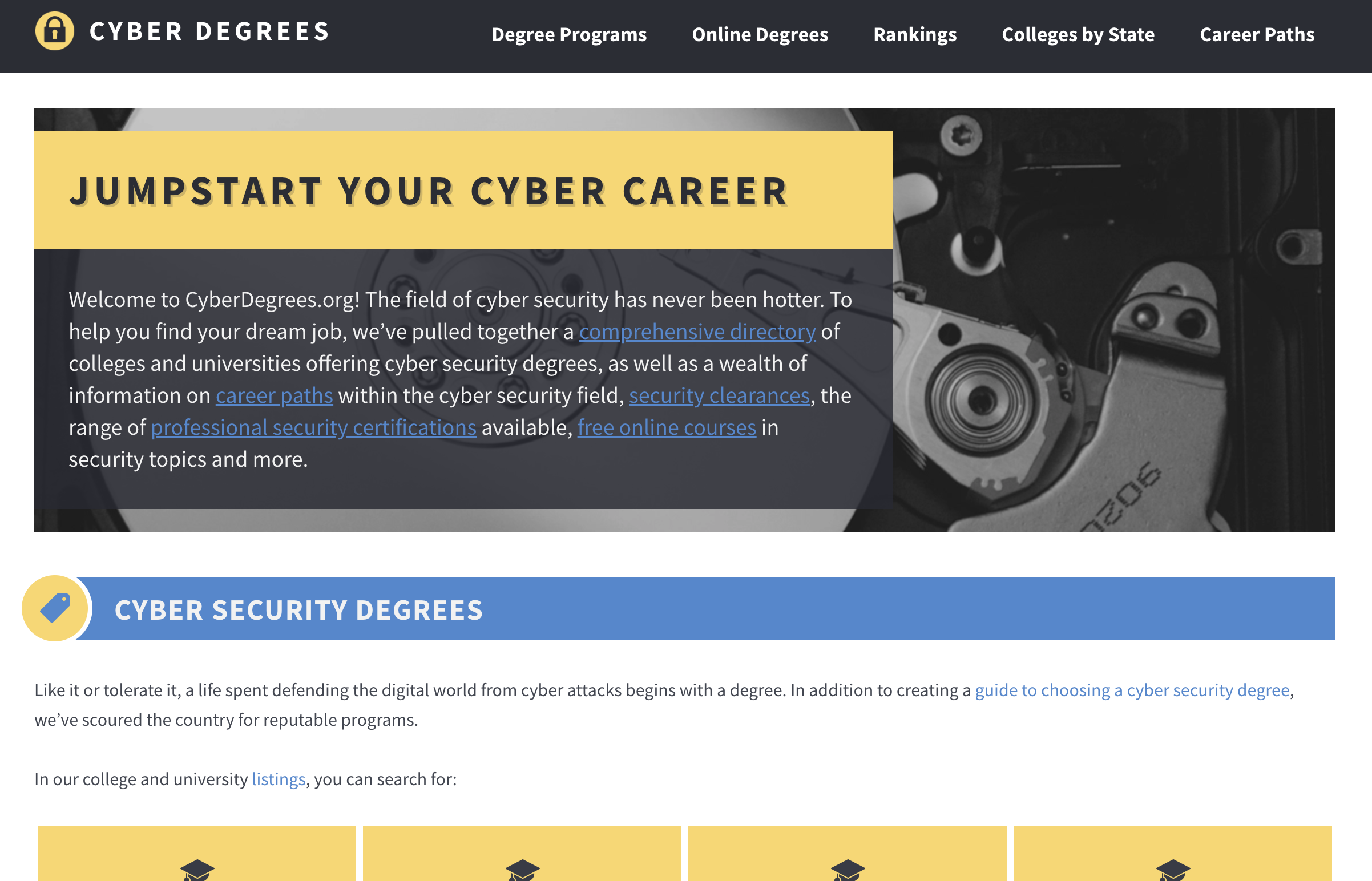 CyberDegrees.org